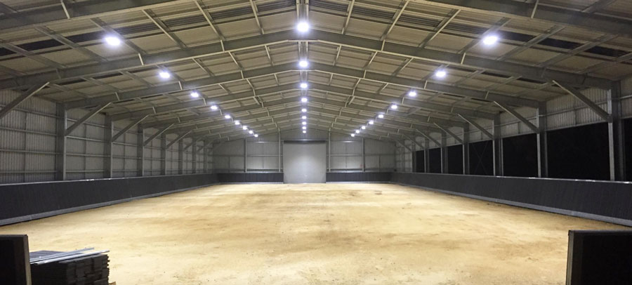 horse arena lighting how to light up an indoor and outdoor arena by