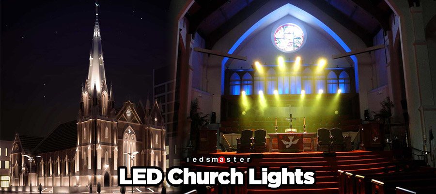 Church LED Lighting on a Budget? & LED Flood Lights for Church and Interior Sanctuary Stage