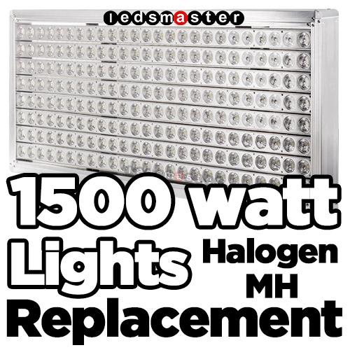 1500 Watt Metal Halide Stadium Lights: 1500W Metal Halide & Halogen Replacement With LED Lamps