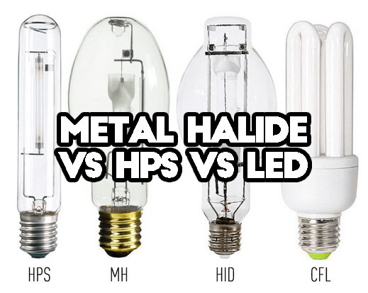 is there any difference between metal halide vs hps vs led