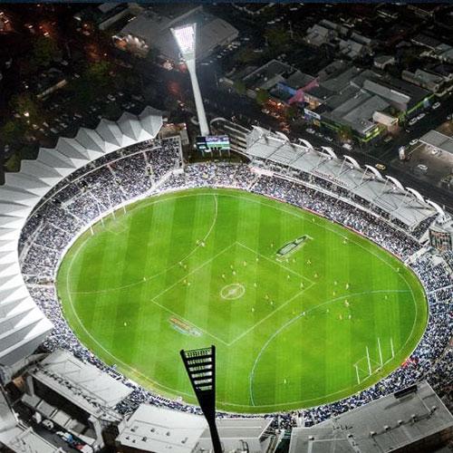 Optus Stadium Lights Tour: LED Lighting For Australian Football League (AFL) Field
