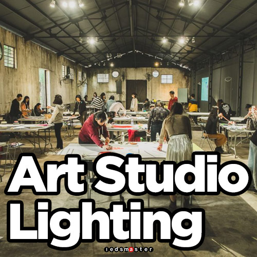 Art studio lighting Personal Art Pideya Led Lighting For Art Studio Ledsmaster