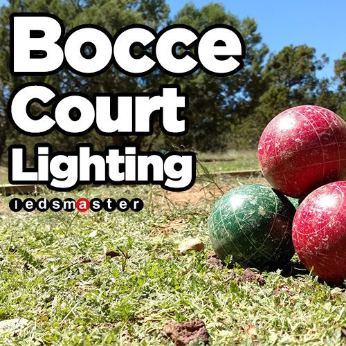 Led Lights For Bocce Ball Court Solar Panel Compatible